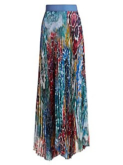 f3c36bc1b7 QUICK VIEW. Alice + Olivia. Shannon Printed Pleated Skirt