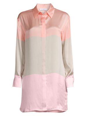 Equipment Tops Lacene Colorblock Silk Tunic