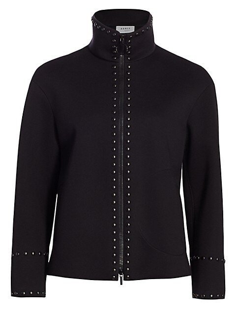 Standup Collar Studded Jacket