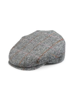 Saks Fifth Avenue Collection Classic Tweed Earflap Cap