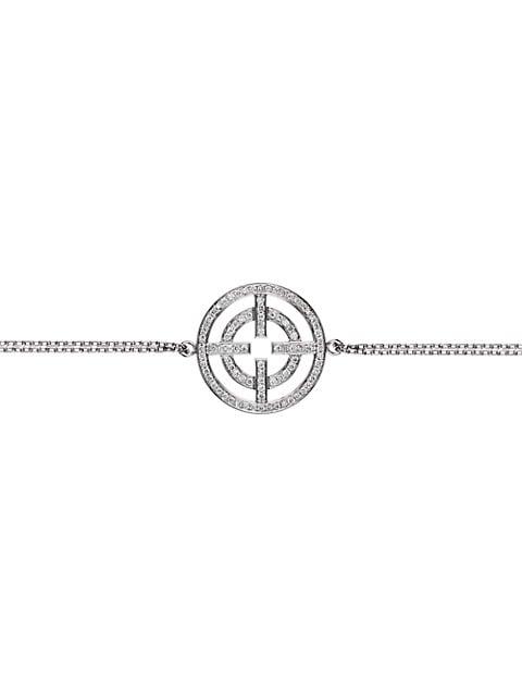 A License To Akillis 18K White Gold & Full Diamond Pavé Pendant Bracelet