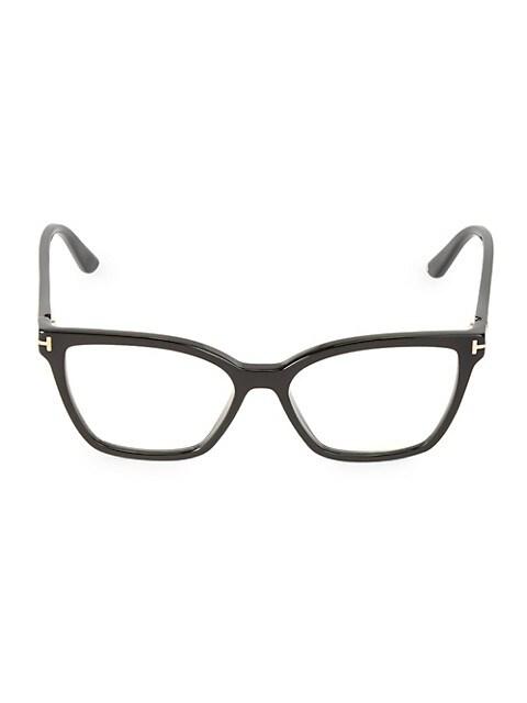53MM Blue Block Square Convertible Clip Sunglasses