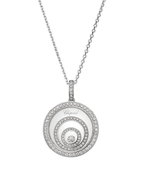 Happy Spirit 18K White Gold & Diamond Pendant Necklace