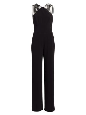 Halston Sleeveless Multi Strap Jumpsuit