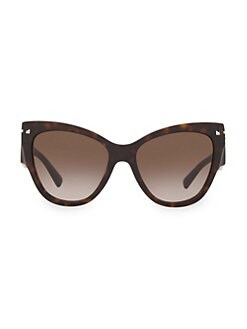 28b53a44c7f1 Valentino. Legacy 55MM Oblong Cateye Sunglasses