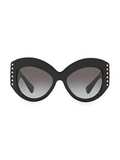 5e90e3bd9548 QUICK VIEW. Valentino. Individual 55MM Embellished Cateye Sunglasses