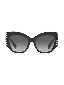 01a77958b7edd Individual 54MM Embellished Cateye Sunglasses BLACK. QUICK VIEW. Product  image