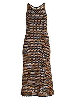 680deb5f9 QUICK VIEW. M Missoni. Sleeveless Crochet Wool-Blend Midi Dress