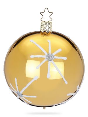 Inge S Christmas Decor Bright Stars Glass Ball Ornament