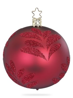 Magic Leaf Glass Ball Ornament