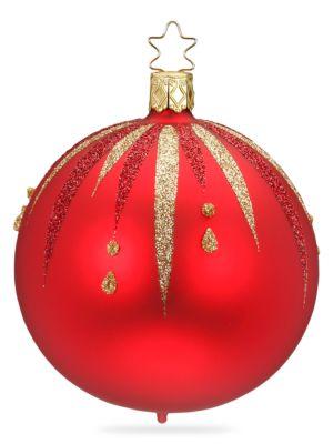 Inge S Christmas Decor Fancy Glass Ball Ornament