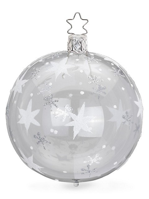 Shining Star Glass Ball Ornament