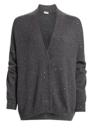 Brunello Cucinelli Oversized Cashmere Silk Cardigan Sweater