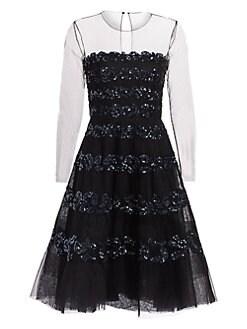 15ef0c6836 Ahluwalia. Lara Embellished Illusion Dress