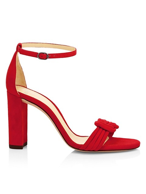Vicky Knotted Suede Sandals