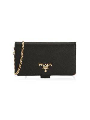 e37717b4 Prada - Saffiano Leather Card Case - saks.com