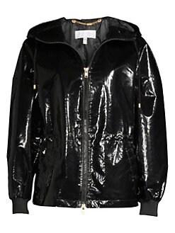 bdc845cb9 QUICK VIEW. Escada Sport. MyPatent Hooded Patent Jacket
