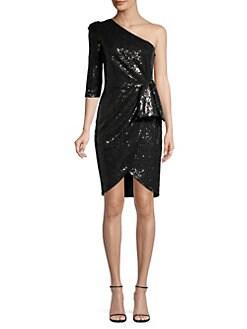 1207a1d1f75 Black Halo. Nara Sequin One-Shoulder Sheath Dress