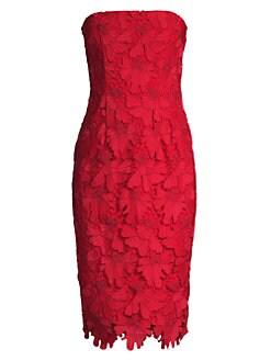 80b6b851164b2 QUICK VIEW. Black Halo. Barker Strapless Lace Sheath Dress