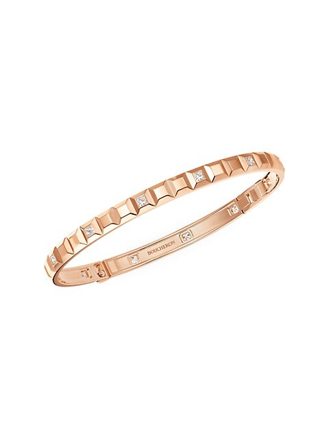 Quatre Clou De Paris 18K Rose Gold & Diamond Bangle Bracelet