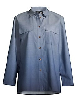 cb547f3c7d6db Lafayette 148 New York. Nicoline Ombre Chambray Blouse