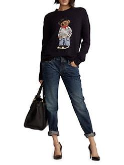 21dff5ab2 Ralph Lauren Collection. Marseille Bear Crewneck Sweater