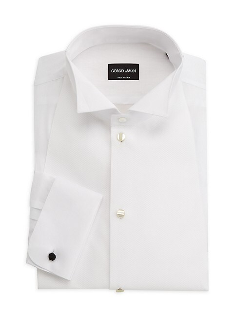 Solid Cotton Tuxedo Shirt