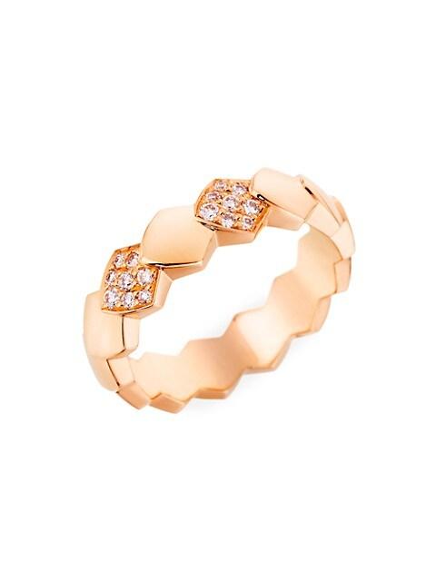 Python 18K Rose Gold & Diamond Ring