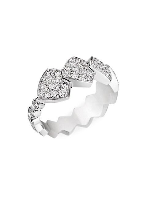 Python Tatou 18K White Gold & Diamond Ring