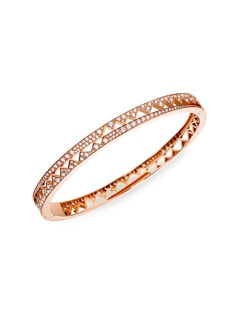 Capture Me Small 18K Rose Gold & Diamond Bangle Bracelet