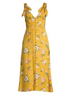 89eef8ef3 QUICK VIEW. Rebecca Taylor. Lita Floral Tie Strap Midi Dress