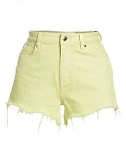59f12ca18a alexanderwang.t. Neon Bite Denim Shorts