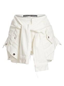 eb7dc8d17c alexanderwang.t. Tie Waist Denim Shorts