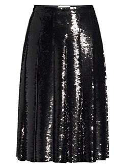 ae77bb9d2187d4 MICHAEL Michael Kors. Pleated Sequin Skirt