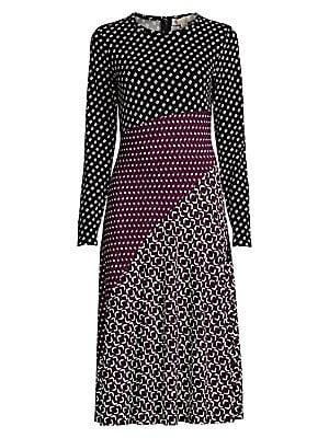 Michael Kors Jersey Dress Print Mixed Midi xoBdCe