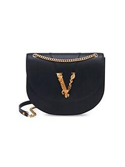 d51f37c304 QUICK VIEW. Versace. Medium Virtus Leather Crossbody Bag