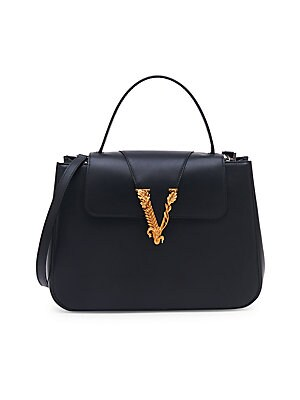 7fc44fd454 Versace - Virtus Top Handle Leather Bag