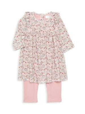 Petit Bateau Baby Girl S All In One Floral Dress Legging