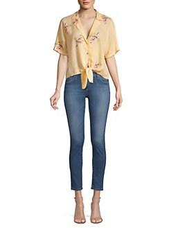 d7af1e2b Rails. Marley Floral Tie Shirt ...