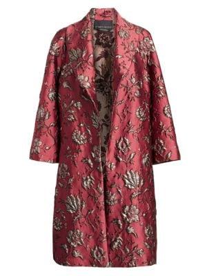Marina Rinaldi, Plus Size Elegante Brocade Opera Coat