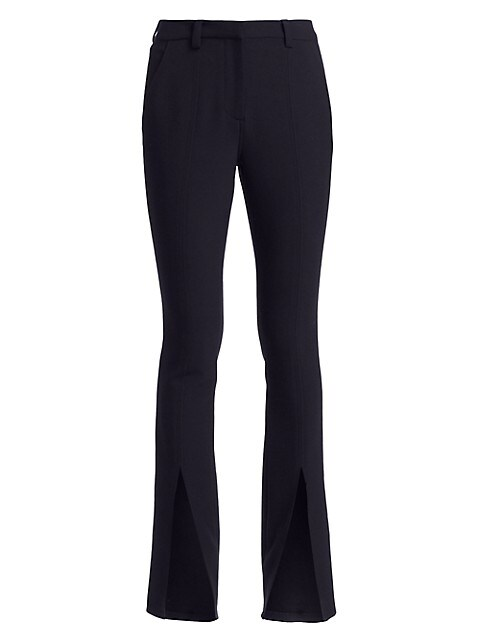 Slim-Fit Conway Straight-Leg Front Slit Pants