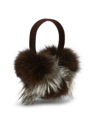 Pologeorgis Fox Fur Earmuffs