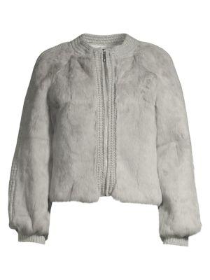 Pologeorgis Rabbit Fur Knit Jacket