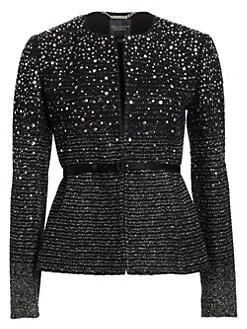 M&s Black/white Front Zip Cropped Bomber Jacket Size 16 Exquisite Craftsmanship; Coats, Jackets & Vests