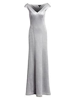 75acb4ff59e0 St. John. Sequin Birdseye Knit V-Neck Gown