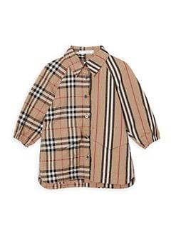 1e5d774f5 Burberry. Baby Girl s Mini Teigan Mix Vintage Check   Tartan Shirt Dress