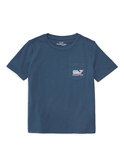 14ea6a9a Little Boy's & Boy's Flag Whale Pocket Tee DARK BLUE. QUICK VIEW. Product  image. QUICK VIEW. Vineyard Vines