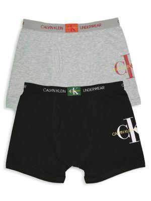 863d9975736 Calvin Klein - Boy's Stretch Cotton Boxer Briefs/Pack of 2 - saks.com