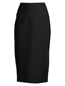 9e9a0a01c5 QUICK VIEW. Eileen Fisher. Stretch Crepe Midi Pencil Skirt
