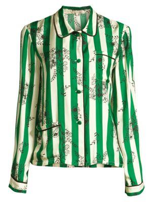 Morgan Lane Ruthie Striped Floral Pajama Top